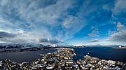 Panorama over Aalesund (Ålesund) in Möre & Romsdal, Norway
