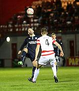 Dundee's Gary Harkins and Hamilton's Mikey Devlin -  Hamilton Academical v Dundee, SPFL Premiership at New Douglas Park<br /> <br />  - &copy; David Young - www.davidyoungphoto.co.uk - email: davidyoungphoto@gmail.com