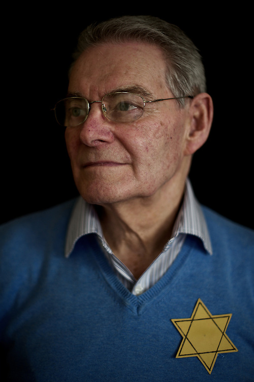 DUBLIN, IRELAND - FEBRUARY 14, 2015: Tomi Reichental, an 80 year old Holocaust survivor, poses for a picture at his house in south Dublin, Ireland. Mr. Reichental, who was taken by the Nazis to the notorious Bergen-Belsen concentration camp as a nine-year-old boy, has lived in Dublin since 1959 and regularly talks to Irish schools about his experiences in the concentration camp during World War II. He is the author of the book, I Was A Boy In Belsen. CREDIT: Paulo Nunes dos Santos for The New York Times