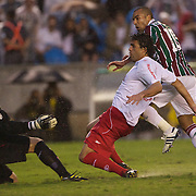 Emerson scoring the third goal for Fluminense in their 3-0 win over Internacional during the  Futebol Brasileirao  Campeonato Brasileiro Serie-A 2010 League match at Maracana, the Jornalista Mário Filho Stadium, Rio de Janeiro,  Brazil. 15th August 2010. Photo Tim Clayton