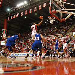 Jan 31, 2009; Piscataway, NJ, USA; Rutgers guard/forward Earl Pettis (11) puts in a layup during the first half of Rutgers' 75-56 victory over DePaul in NCAA college basketball at the Louis Brown Athletic Center