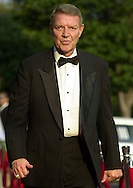 """Philadelphia Philles broadcaster Harry Kalas, walks the red carpet, at a premiere screening of the film """"Summer Catch"""", Monday, Aug. 20, 2001, in Philadelphia, Pa. The Philadelphia premiere was to benefit Phillies Charities, Inc. (William Thomas Cain/photodx.com)"""