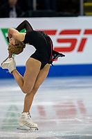 KELOWNA, BC - OCTOBER 25: Russian figure skater Serafima Sakhanovich performs in the ladies short program during Skate Canada International held  at Prospera Place on October 25, 2019 in Kelowna, Canada. (Photo by Marissa Baecker/Shoot the Breeze)