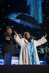 Singer, Aretha Franklin performs in Washington D.C. 16 Aug 2018 Pictured: Singer Aretha Franklin performs during the 91st National Christmas Tree Lighting Ceremony on the Ellipse south of the White House in Washington, DC, USA, 06 December 2013. The lighting of the tree is an annual tradition attended by the US President and the First Family. President Calvin Coolidge lit the first National Christmas tree, a 48-foot Balsam fir, in 1923. Credit: Jim LoScalzo / Pool via CNP. Photo credit: CNP / MEGA TheMegaAgency.com +1 888 505 6342