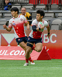 March 9, 2019 - Vancouver, BC, U.S. - VANCOUVER, BC - MARCH 10: Action during Game #2- Argentina 7s vs Japan 7s in Pool D match-up at the Canada Sevens held March 9-10, 2019 at BC Place Stadium in Vancouver, BC, Canada.(Photo by Allan Hamilton/Icon Sportswire) (Credit Image: © Allan Hamilton/Icon SMI via ZUMA Press)