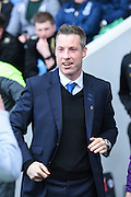 Millwall manager Neil Harris during the Sky Bet Championship match between Millwall and Derby County at The Den, London, England on 25 April 2015. Photo by David Charbit.