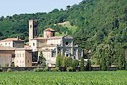 Italien, Euganeische Hügel bei Padua, Abtei von Praglia.. ..Italy, Colli Euganei, Praglia abbey