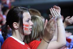 Fans of Denmark during 21st Men's World Handball Championship preliminary Group D match between Denmark and Saudi Arabia, on January 19, 2009, in Arena Zatika, Porec, Croatia. Win of Denmark 32:13. (Photo by Vid Ponikvar / Sportida)