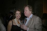 VERONICA WADLEY AND CHRISTOPHER SYLVESTER, Tatler Summer party. Home House. Portman Sq. London. 27 June 2007.  -DO NOT ARCHIVE-© Copyright Photograph by Dafydd Jones. 248 Clapham Rd. London SW9 0PZ. Tel 0207 820 0771. www.dafjones.com.