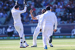 © Licensed to London News Pictures. 27/12/2013. Monty Panesar celebrates  during Day 2 of the Ashes Boxing Day Test Match between Australia Vs England at the MCG on 27 December, 2013 in Melbourne, Australia. Photo credit : Asanka Brendon Ratnayake/LNP