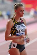 Renee Eykens (Belgium), 800 Metres Women - Round 1, Heat 1, during the 2019 IAAF World Athletics Championships at Khalifa International Stadium, Doha, Qatar on 27 September 2019.
