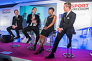 AP McCoy OBE, Will Greenwood, Denise Lewis and  - UK charity, Sport for Freedom (SFF), marks Anti-Slavery Day 2015 by hosting a charity Gala Dinner, supported by Aston Martin, on Thursday 15th October at Stamford Bridge, home of Chelsea Football Club. This inaugural event brought together people from the world of sport, entertainment, media, and business to unite behind a promise to tackle the issue of modern day human trafficking and slavery.  <br /> Hosted by Sky presenters Sarah-Jane Mee and Jim White, the Sport for Freedom Gala Dinner includes guests such as jockey AP McCoy OBE; Denise Lewis, former British Olympic Gold Medal winner; BBC Strictly star, Brendan Cole; Al Bangura, former Watford FC player and Sport for Freedom Ambassador who was trafficked from Africa to the UK at the age of just 14yrs old; Made in Chelsea star, Ollie Proudlock; ITV weather presenter, Lucy Verasamy; Sky Sports F1 presenter and SFF Ambassador, Natalie Pinkham; Premier League footballers Ryan Bertrand of Southampton FC and Troy Deeney of Watford FC and champion boxer, Anthony Joshua; and The UK's first independent Anti Slavery Commissioner, Kevin Hyland OBE, who highlighted the issues of modern day slavery that face the UK and world today. <br /> The evening concluded with chart topping music from 'Naughty Boy'. <br /> Sport for Freedom are also joining forces with the Premier League Academies for an international  'Football for Freedom' tournament with their U16's players that will also involve educating those taking part about the issues surrounding modern day slavery. The final will take place at Liverpool FC's Academy on Anti-Slavery Day, 18th October.