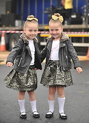 Visiting the Pattern Day...... 6 year old twins Lexi and Katie Donavan from Kilkenny enjoying the entertainment at Murrisk Pattern Day on sunday last.<br /> Pic Conor McKeown