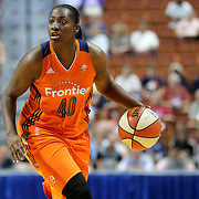 UNCASVILLE, CONNECTICUT- MAY 26: Shekinna Stricklen #40 of the Connecticut Sun in action during the Los Angeles Sparks Vs Connecticut Sun, WNBA regular season game at Mohegan Sun Arena on May 26, 2016 in Uncasville, Connecticut. (Photo by Tim Clayton/Corbis via Getty Images)