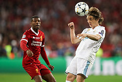 Luka Modric of Real Madrid in action during the UEFA Champions League final football match between Liverpool and Real Madrid at the Olympic Stadium in Kiev, Ukraine on May 26, 2018. Photo by Andriy Yurchak / Sportida