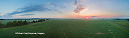 63893-03415 Sunrise in rural Illinois - panoramic aerial - Marion Co. IL