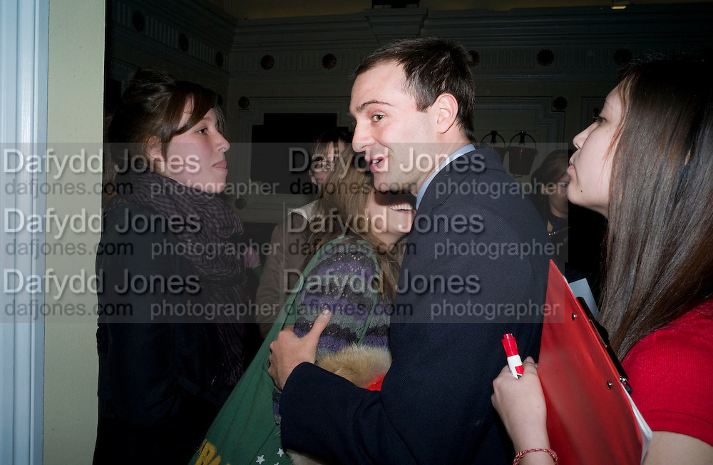 KATE GOLDSMITH; BEN GOLDSMITH, David Tang and Nick Broomfield host  a reception and screening of Ghosts. On the Fifth anniversary of the Morecambe Bay Tragedy to  benefit the Morecambe Bay Children's Fund. The Electric Cinema. Portobello Rd. London W11. 5 February 2009 *** Local Caption *** -DO NOT ARCHIVE -Copyright Photograph by Dafydd Jones. 248 Clapham Rd. London SW9 0PZ. Tel 0207 820 0771. www.dafjones.com<br /> KATE GOLDSMITH; BEN GOLDSMITH, David Tang and Nick Broomfield host  a reception and screening of Ghosts. On the Fifth anniversary of the Morecambe Bay Tragedy to  benefit the Morecambe Bay Children's Fund. The Electric Cinema. Portobello Rd. London W11. 5 February 2009