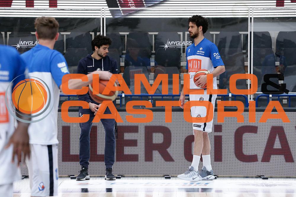 Michele Vitali, Vitali Luca<br /> Dolomiti Energia Aquila Basket Trento - Germani Basket Brescia Leonessa<br /> Lega Basket Serie A 2016/2017<br /> PalaTrento, 23/04/2017<br /> Foto Ciamillo-Castoria / M. Brondi