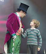 West End Live! 2016 <br /> Trafalgar Square, London, Great Britain <br /> 18th June 2016<br /> <br /> <br /> <br /> CHARLIE AND THE CHOCOLATE FACTORY<br /> <br /> Photograph by Elliott Franks <br /> Image licensed to Elliott Franks Photography Services