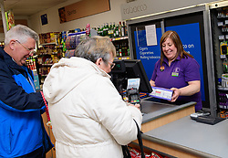 Lincolnshire Co-operative's Celebrating Success Evening winners.  Skellingthorpe food store were winners of the Outstanding Customer Engagement Award.  Pictured is Debbie Hammond serving a customer.<br /> <br /> Picture: Chris Vaughan Photography for Lincolnshire Co-op<br /> Date: April 24, 2017