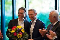 DEU, Deutschland, Germany, Berlin, 16.10.2017: Der FDP-Spitzenkandidat in Niedersachsen, Stefan Birkner, und FDP-Parteichef Christian Lindner, bei der Sitzung des FDP-Bundesvorstands am Tag nach den Landtagswahlen in Niedersachsen.