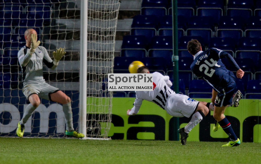 Ross County v Dunfermline Athletic  Scottish Cup Replay Season 2015/16 East End Park 12 December 2015<br /> Raffaele De Vita scores<br /> CRAIG BROWN | sportPix.org.uk