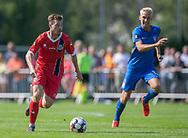 Nicolas Mortensen (FC Helsingør) under kampen i 2. Division mellem Skovshoved IF og FC Helsingør den 3. august 2019 i Skovshoved Idrætspark (Foto: Claus Birch)