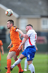 RUSHDENS RICHARD BUNTING BATTLES WITH HARTLEY JOSH WEBB, AFC Rushden & Diamonds v Hartley Wintney FC Hayden Road, Evo Stik League South East Saturday 2nd December 2017 Score 2-0, Rushden go top of League, Photo:Mike Capps