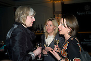 THERESA MAY MP, ROSALIE BLAIR AND SALLY WARMINGTON, Veuve Cliquot Business Woman Award. Berkeley Hotel 8 April 2008.  *** Local Caption *** -DO NOT ARCHIVE-© Copyright Photograph by Dafydd Jones. 248 Clapham Rd. London SW9 0PZ. Tel 0207 820 0771. www.dafjones.com.