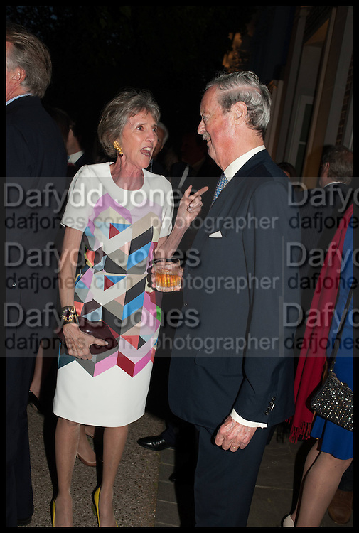 LADY SPENCER-CHURCHILL; THE DUKE OF MARLBOROUGH, Cartier dinner in celebration of the Chelsea Flower Show. The Palm Court at the Hurlingham Club, London. 19 May 2014.