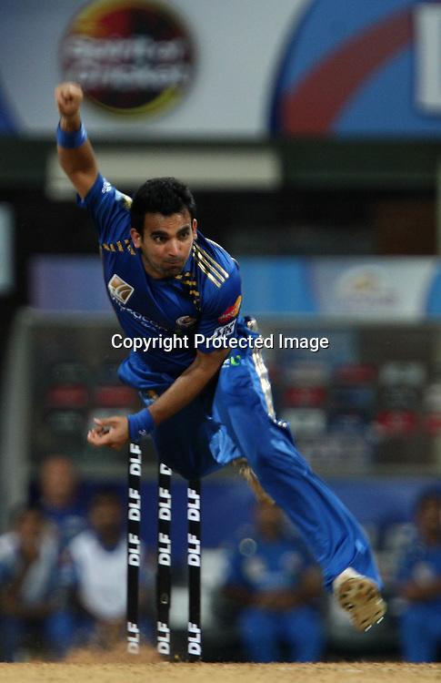 Zaheer Kahn, Indian Premier League twenty20 cricket final, Mumbai Indians v Chennai Super Kings, 26 April 2010.