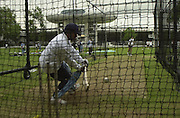 .Photo Peter Spurrier.20/06/02.Sachin Tendulka batting net parctice Lords 20020620, India Test Team, Nets, Lords. [Mandatory Credit Peter Spurrier:Intersport Images]