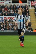 Newcastle United midfielder Jack Colback  during the Barclays Premier League match between Newcastle United and Norwich City at St. James's Park, Newcastle, England on 18 October 2015. Photo by Simon Davies.