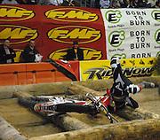 A LOT of racers struggled in the matrix section of the course, this rider especially.