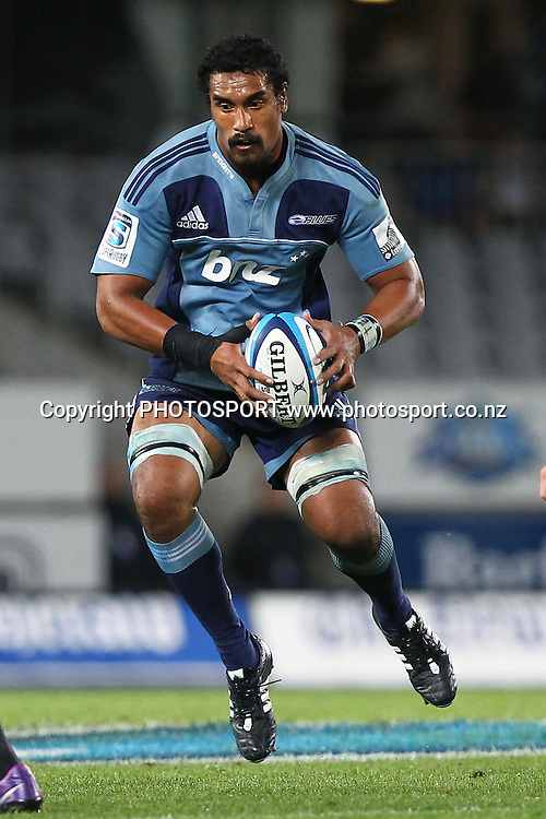 Blues' Jerome Kaino in action. Super Rugby rugby union match, Blues v Crusaders at Eden Park, Auckland, New Zealand. Friday 24th February 2012. Photo: Anthony Au-Yeung / photosport.co.nz