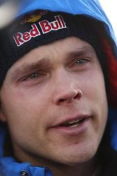 15.02.2015,  Karlstad, SWE, FIA, WRC, Schweden Rallye, im Bild Andreas Mikkelsen (Volkswagen Motorsport II/Polo R WRC) // during the WRC Sweden Rallye at the Karlstad in Karlstad, Sweden on 2015/02/15. EXPA Pictures &copy; 2015, PhotoCredit: EXPA/ Eibner-Pressefoto/ Bermel<br /> <br /> *****ATTENTION - OUT of GER*****