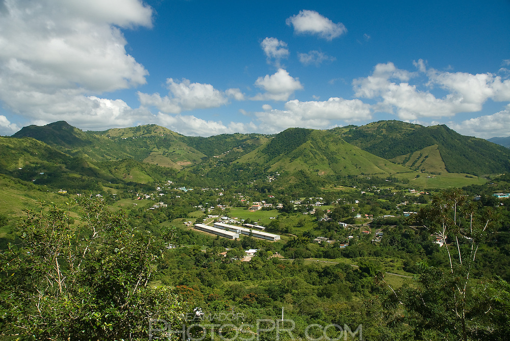 Green hills characteristic of central towns