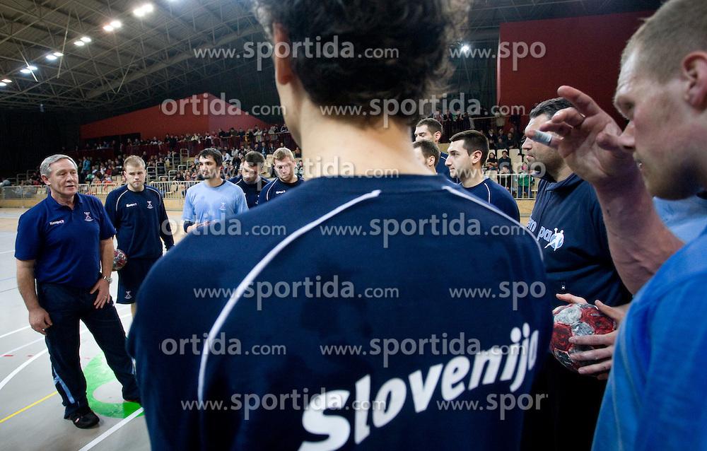 Head coach Zvonimir Serdarusic - Noka at Open training session for the public of Slovenian handball National Men team before European Championships Austria 2010, on December 27, 2009, in Terme Olimia, Podcetrtek, Slovenia.  (Photo by Vid Ponikvar / Sportida)