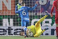 (L-R) *Mustafa Saymak* of PEC Zwolle, *Marco Bizot* of AZ Alkmaar