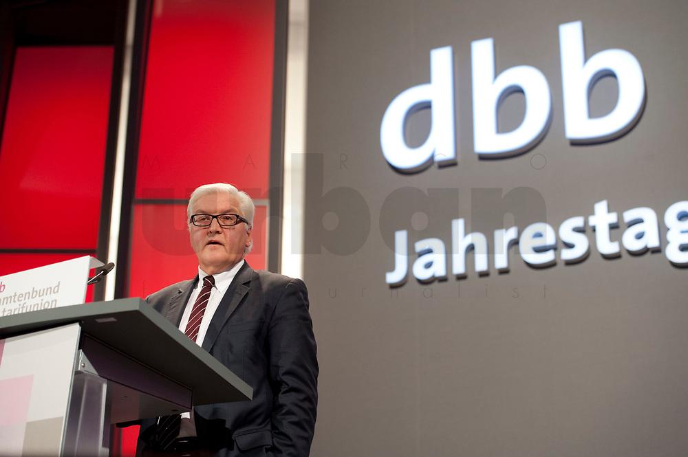 11 JAN 2011, KOELN/GERMANY:<br /> Frank-Walter Steinmeier, SPD Fraktionsvorsitzender, waehrend seiner Rede, 52. Jahrestagung dbb beamtenbund und tarifunion, Congress-Centrum Nord Koelnmesse<br /> IMAGE: 20110111-01-084<br /> KEYWORDS: Köln