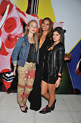 Left to right, PETRA PALUMBO, EMMA McQUISTON fiance of Viscount Weymouth heir of the Marquess of Bath and BIP LING at the Vogue Festival Party 2013 in association with Vertu held at the Queen Elizabeth Hall, Southbank Centre, London SE1 on 27th April 2013.