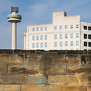 Radio City Tower (also known as St. John's Beacon) is a radio and observation tower in Liverpool, England, built in 1969 and opened by Queen Elizabeth II. It was designed by James A. Roberts Associates in Birmingham. It is 138 metres (452 ft) tall, and is the second tallest free-standing building in Liverpool and the 32nd tallest in the United Kingdom. When considering the height of the building, however, it has a 10m long antenna on the roof, making it the highest structure in Liverpool.<br /> <br /> Near the top of the tower was a revolving restaurant, the facade and floor of the restaurant revolving as one unit, while the roof of the restaurant was used as an observation platform for visitors. There are 558 stairs up to the top, and two lift shafts which reach the top in 30 seconds.