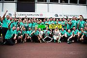 May 20-24, 2015: Monaco Grand Prix: Nico Rosberg  (GER), Mercedes  and Mercedes team celebrate