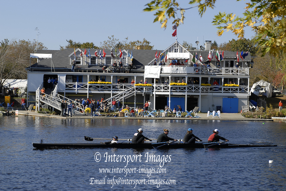 Boston, Massachusetts,  General views GV's. Cambridge Boathouse,  Boston side, from the bank and the Eliot Bridge  as crews compete in the the Forty second Head of the Charles, 21/10/2006.  Photo  Peter Spurrier/Intersport Images...[Mandatory Credit, Peter Spurier/ Intersport Images] Rowing Course; Charles River. Boston. USA