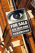 For Sale sign, West Hampstead, London, United Kingdom