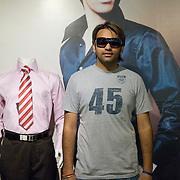 Prathip (20) at the Globus department store, West End Mall, Moradabad UP
