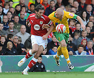 Bristol - Saturday, October 18th, 2008: Jamie McAllister of Bristol City and Matt Pattison of Norwich City during the Coca Cola Championship match at Ashton Gate, Bristol. (Pic by Alex Broadway/Focus Images)