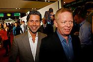 AMSTERDAM - In het Rai theater is de filmpremiere van Iron Man 3. Met op de foto links Michiel Klerken. FOTO LEVIN DEN BOER - PERSFOTO.NU