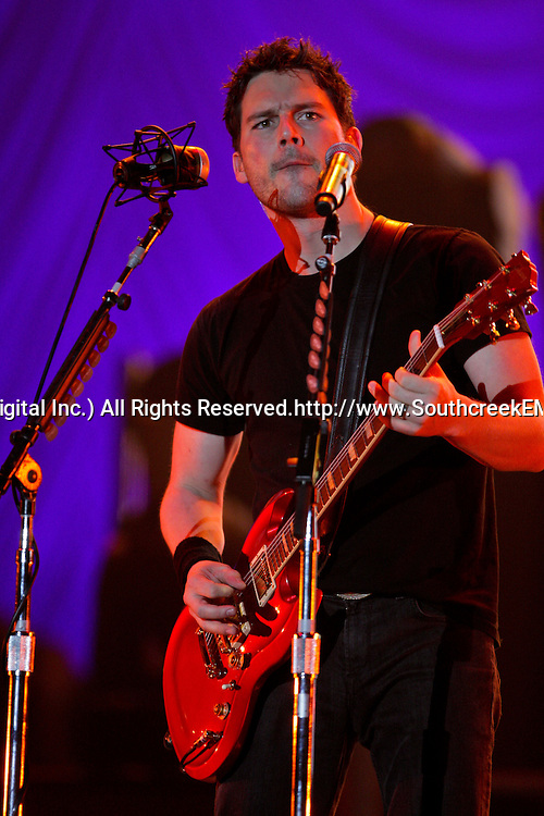 17 April, 2009: Lead Guitar player for Nickelback Ryan Peake performs as one of the opening acts in support of Nickelback's new album 'Dark Horse' for their 2009 concert tour stop at the New Orleans Arena in New Orleans, Louisiana.
