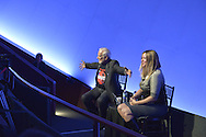 Former NASA astronaut Edwin BUZZ ALDRIN is in conversation with his Mission Director, Christina Korp, about his experiences in space and his new Children's  Middle Grade book Welcome to Mars: Making a Home on the Red Planet. After the talk at the jetBlue Sky Theater Planetarium at Long Island's Cradle of Aviation Museum, Aldrin signed copies of his new book. On the 1969 Apollo 11 mission, Buzz Aldrin was the second person to walk on the Moon, and his first trip to space was the1966 Gemini 12.